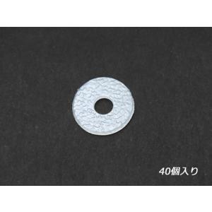 プラワッシャー 外径15mm 40ヶ【メール便対応】 [SEIWA]  レザークラフトコンチョ スペーサー|lc-palette