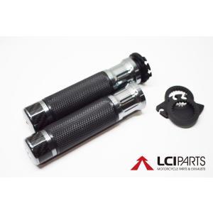 CNCハンドルグリップ カーボンバーエンド(Ti) VTR1000ファイアーストーム|lciparts