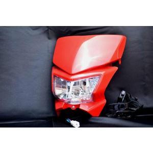 ヘッドライトカウルR DトラッカーKLX250XR250XR100モタードCRM|lciparts