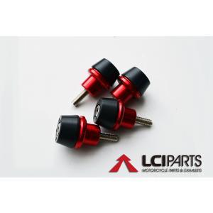汎用 フォークスライダー  フレームスライダー レッド ZX-10R ZRX1100 ZRX1200|lciparts