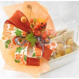 ハロウィンギフトオレンジ 子供 お菓子 アソート 詰め合わせ 配る 個包装の画像