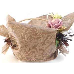 フラワーギフトお供え花バスケットローズアレンジM 個包装 詰め合わせ 贈り物に|le-coffret