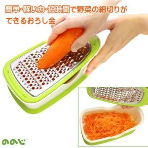 ののじ サラダおろしボックス 野菜の細切り おろし金 両面ブレード|le-cure