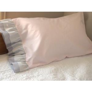 枕カバー ピローケース ピンク Wフリル|le-jeudi