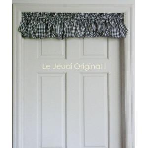 カフェカーテン 短いカーテン バランス ギンガム・パフ   綿100 日本製 le-jeudi