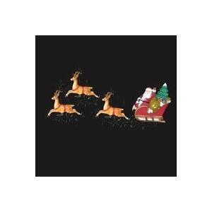 クリスマス イルミネーション サンタと8 匹のトナカイ ライト セット |le-jeudi