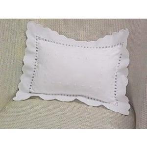 クッション ピロー 小さい枕  ホワイト・フレンチノット|le-jeudi