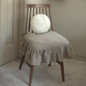 イスカバー/ リネン フリル  リビング椅子 クッションカバー|le-jeudi