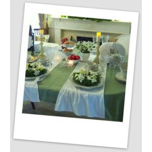 テーブルセンター/テーブルランナー  エレガントクロス・フリル/白  ル ジュディ オリジナル|le-jeudi|06