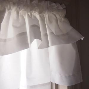 カフェカーテン 短いカーテン  バランス 2レイヤー 2段 白|le-jeudi|03