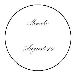 エッチング加工 10文字まで(イヤープレート用・ノーマル配置 フォントA)|le-noble