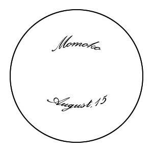 エッチング加工 10文字まで(イヤープレート用・R配置 フォントA)|le-noble