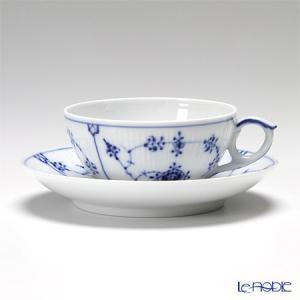 ロイヤルコペンハーゲン ブルー フルーテッド プレイン ティーカップ&ソーサー 180cc 1101077 アフタヌーンティー|le-noble