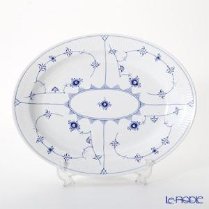 ロイヤルコペンハーゲン ブルー フルーテッド プレイン ディッシュ(楕円) 36.5×29cm 11...