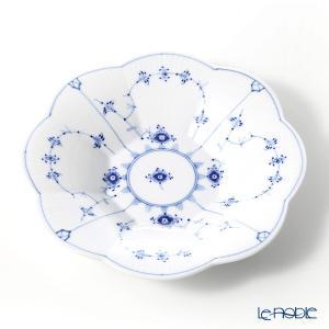 ロイヤルコペンハーゲン ブルー フルーテッド プレイン ペタルボウル 25.5×H4.5cm 1101397 皿|le-noble