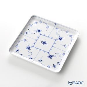 ロイヤルコペンハーゲン ブルー フルーテッド プレイン スクエアディッシュ 20cm 1101720/1017204 皿|le-noble