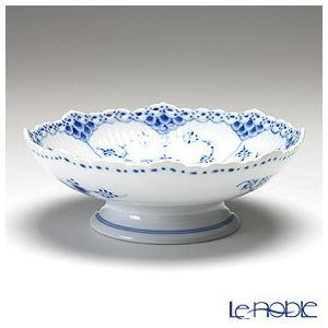 ロイヤルコペンハーゲン ブルー フルーテッド ハーフレース ケーキ皿(脚付) 6×17.5cm 1102427 皿|le-noble