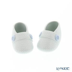 ブルーの大きめボタンが可愛らしい、男の赤ちゃん用のベビーシューズオブジェ。 ナオ NAO スペイン ...
