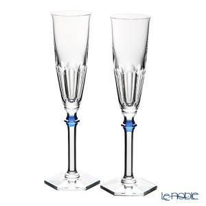 バカラ アルクール イブ 2-811-092 シャンパンフルート ブルーボタン(ラッカージュ仕上げ) ペア 結婚祝い le-noble