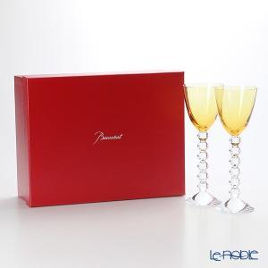 バカラ ベガ 2-812-266(2-100-909) ラインワイン アンバー 22.8cm ペア 結婚祝い|le-noble