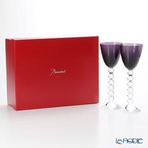 バカラ ベガ 2-812-269(2-100-595) ラインワイン パープル 22.8cm ペア 結婚祝い|le-noble