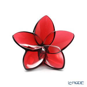 美しく咲き誇る花の姿をかたどったフラワーオブジェ。 バカラ Baccarat フランス オブジェ