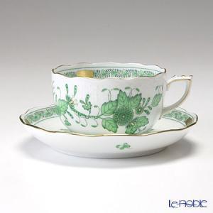ヘレンド(Herend) インドの華グリーン 00724-0-00/724 ティーカップ&ソーサー 200cc アフタヌーンティー|le-noble