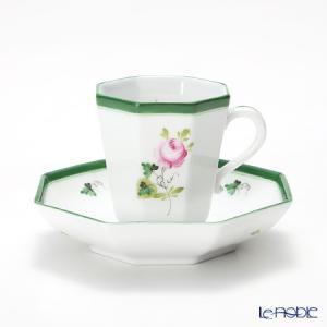 ヘレンド(Herend) ウィーンのバラ 04307-0-00 モカカップ&ソーサー(オクタゴナル)|le-noble