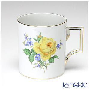 マイセン 黄色のバラ(忘れな草) 020910/55810 マグ 240cc|le-noble