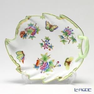 ヘレンド(Herend) ヴィクトリア・ブーケ 00201-0-00 リーフディッシュ 23.5cm 皿|le-noble
