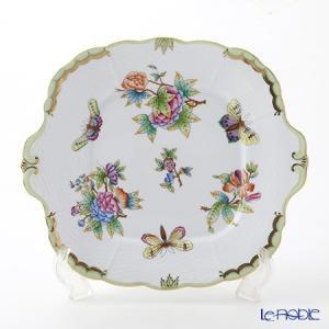 ヘレンド(Herend) ヴィクトリア・ブーケ 00431-0-00 四角ケーキ皿 28×25cm 皿|le-noble