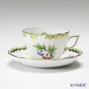 ヘレンド(Herend) ヴィクトリア・ブーケ 00730-0-00 ティーカップ&ソーサー(兼用) 200cc アフタヌーンティー|le-noble