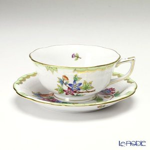 ヘレンド(Herend) ヴィクトリア・ブーケ 00734-0-00 ティーカップ&ソーサー(ロウ) アフタヌーンティー|le-noble
