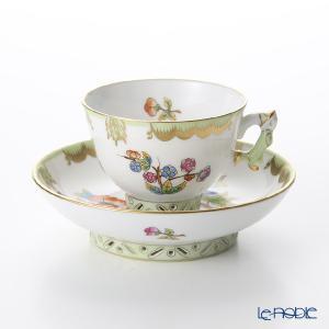 ヘレンド(Herend) ヴィクトリア・ブーケ 03371-0-21 スモールカップ&ソーサー|le-noble