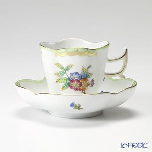 ヘレンド(Herend) ヴィクトリア・ブーケ 04198-0-00 コーヒーカップ&ソーサー(楕円) 100cc|le-noble
