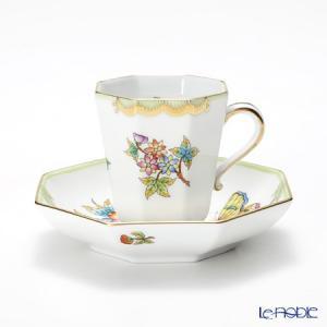 ヘレンド(Herend) ヴィクトリア・ブーケ 04307-0-00 モカカップ&ソーサー(オクタゴナル)|le-noble