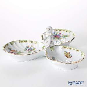 ヘレンド(Herend) ヴィクトリア・ブーケ 07531-0-21 3 ファンシーディッシュ(マンダリン) 皿|le-noble