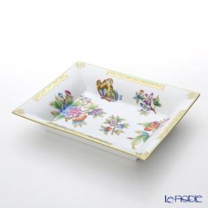 ヘレンド(Herend) ヴィクトリア・ブーケ 07631-0-00 スクエアトレイ 16×19cm|le-noble