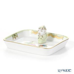 ヘレンド(Herend) ヴィクトリア・ブーケ 07733-0-21 オブロングトレイ マンダリン 8cm 皿|le-noble