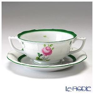 ヘレンド(Herend) ウィーンのバラ 00751-0-00/751 クリームスープカップ&ソーサー 240cc|le-noble