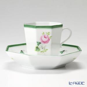 ヘレンド(Herend) ウィーンのバラ 04304-0-00 オクタゴナルカップ&ソーサー|le-noble