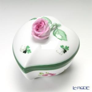 ヘレンド(Herend) ウィーンのバラ 06005-0-09/6004 ハートボックス(ローズ)|le-noble