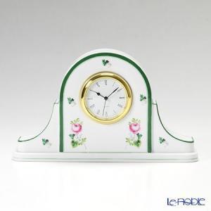ヘレンド(Herend) ウィーンのバラ 08081-0-00 テーブルクロック 14cm|le-noble