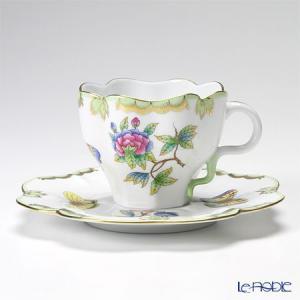 ヘレンド(Herend) ヴィクトリア・ブーケ 04740-0-00 ティーカップ&ソーサー 200cc アフタヌーンティー|le-noble