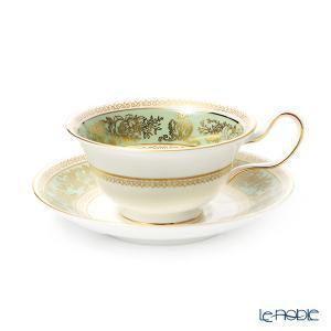ウェッジウッド(Wedgwood) コロンビアセージグリーン ティーカップ&ソーサー(ピオニー) アフタヌーンティー|le-noble