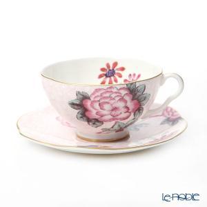 ウェッジウッド(Wedgwood) カッコー(ハーレクィーンコレクション) ティーカップ&ソーサー 180cc ピンク...