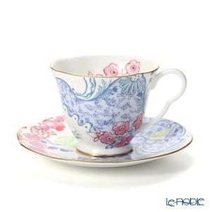 ウェッジウッド(Wedgwood) バタフライブルーム ティーカップ&ソーサー ブルー/ピンク...