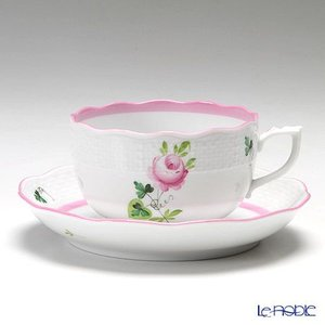 ヘレンド(Herend) ウィーンのバラ ピンク 00724-0-00 ティーカップ&ソーサー 200cc アフタヌーンティー|le-noble