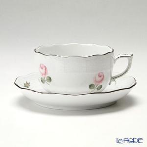 ヘレンド(Herend) ウィーンのバラ プラチナ 00724-0-00 ティーカップ&ソーサー 200cc アフタヌーンティー|le-noble