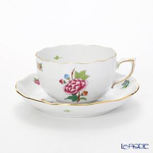 ヘレンド(Herend) ヴィクトリア・花と蝶 LVF-1 0724-0-00 ティーカップ&ソーサー...